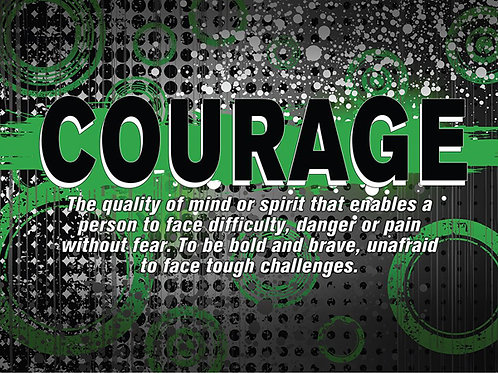 """copy of copy of Abstract Definition Poster - """"COURAGE"""""""