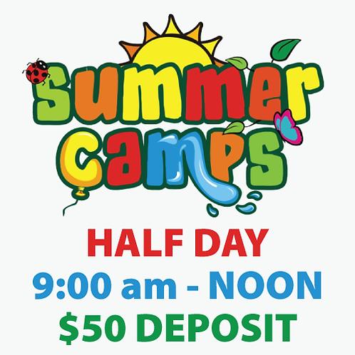 Summer Camp Deposit (half day)