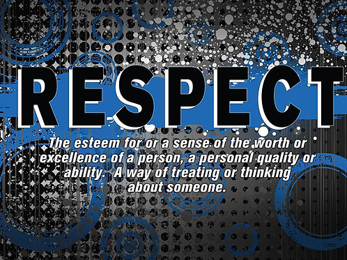 """copy of Abstract Definition Poster - """"RESPECT"""""""