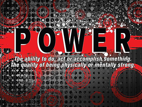 """Abstract Definition Poster - """"POWER"""""""