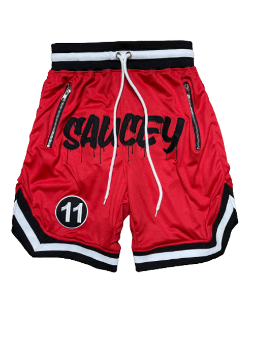Red SAUCEY Shorts