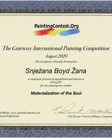 Finalist certifikat Materialization of t