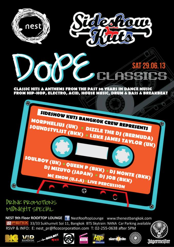 Dope Classic Club Night by Sideshow Kuts
