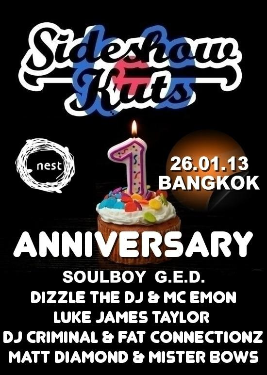 Sideshow Kuts 1st Birthday Party Bangkok