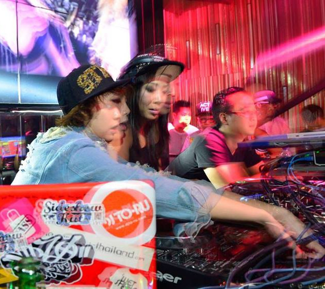 Soundstylist & Queen P (Thailand Top Female DJ's) @Sideshow Kuts Macau China