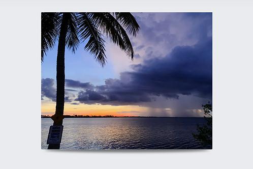 Sunset and Rain 40 x 30