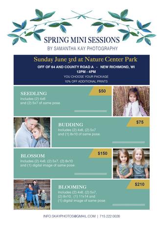 Spring Mini Sessions 2018 : New Richmond, WI