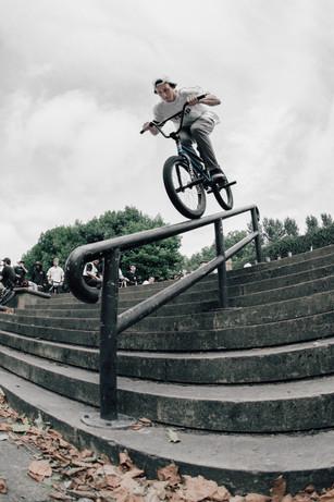 Ryan Eles   Tyre ride down rail