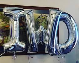 Custom helium letters
