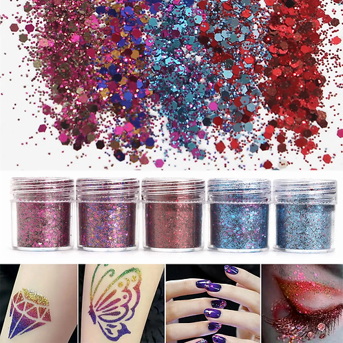 Shining Mixed Glitter Powder Sequins Decoration 3D Dust