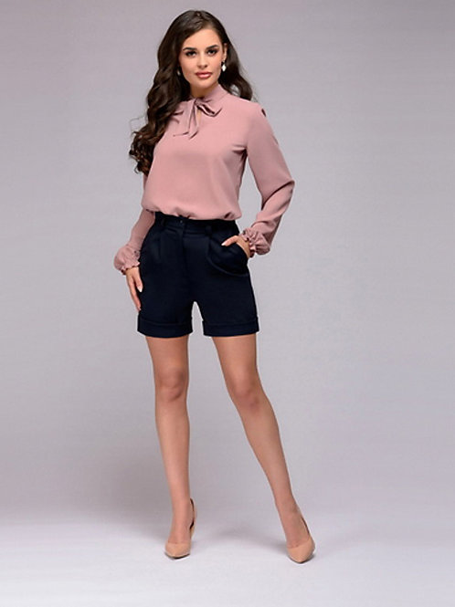 Women's Daily Wear Date Chic & Modern Blouse - Solid Colored Blushing Pink