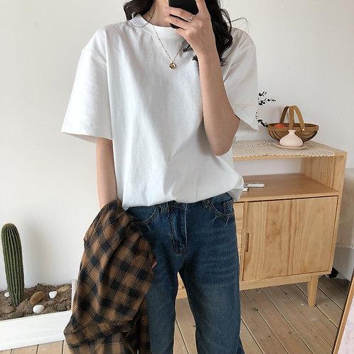 Fashion Natural Short Basic Shirt