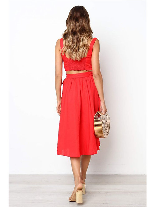 Women's Set - Solid Colored Skirt