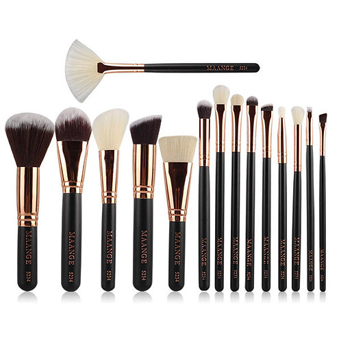 15pcs MAANGE Makeup Cosmetic Brushes Kit Set Facial Foundation Blush Blending Ey