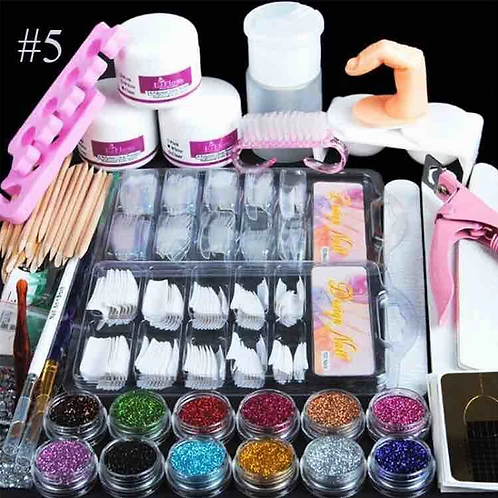 Full Set Of Crystal Powder White Powder Transparent Set 12 Color Glitter Nail Ar
