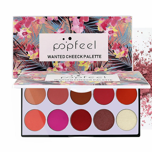 POPFEEL 10 Color Blush Eye Shadow Soft Makeup Facial Repair Foundation Concealer