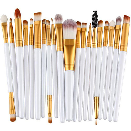 20Pcs Multifunctional Face Makeup Brushes Eye Makeup Lip Makeup Brushes Cosmetic