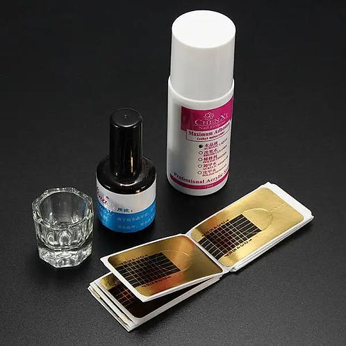 Share to: Acrylic Powder Primer Brush Pen Dish Forms Buffer File Nail Art Set