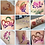 Thumbnail: 4Pcs 3D Colorful Nail Art Body Tattoo Glitter Powder Decoration