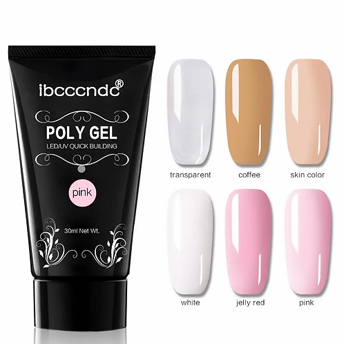 DANCINGNAIL Poly Gel Nail Extension 6 Colors Nail Builder UV Gel