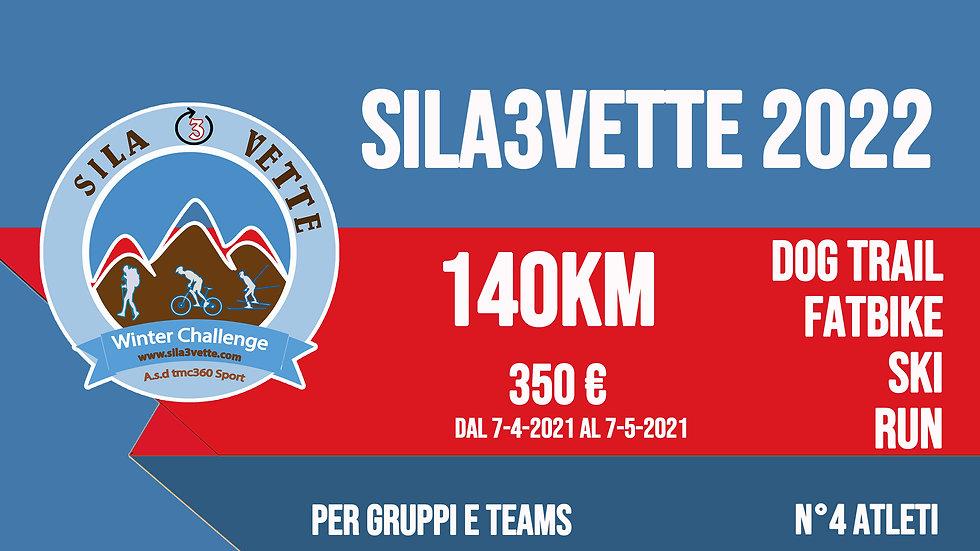 Sila3Vette2022 per gruppi - versione 140km