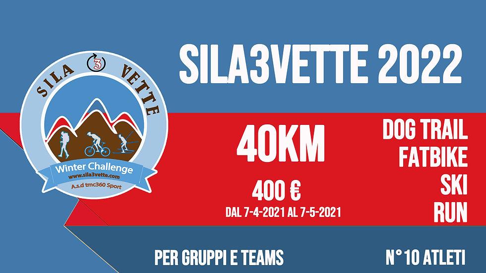 Sila3Vette2022 per gruppi - versione 40km