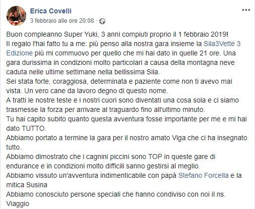 Erica parla della Sila3Vette