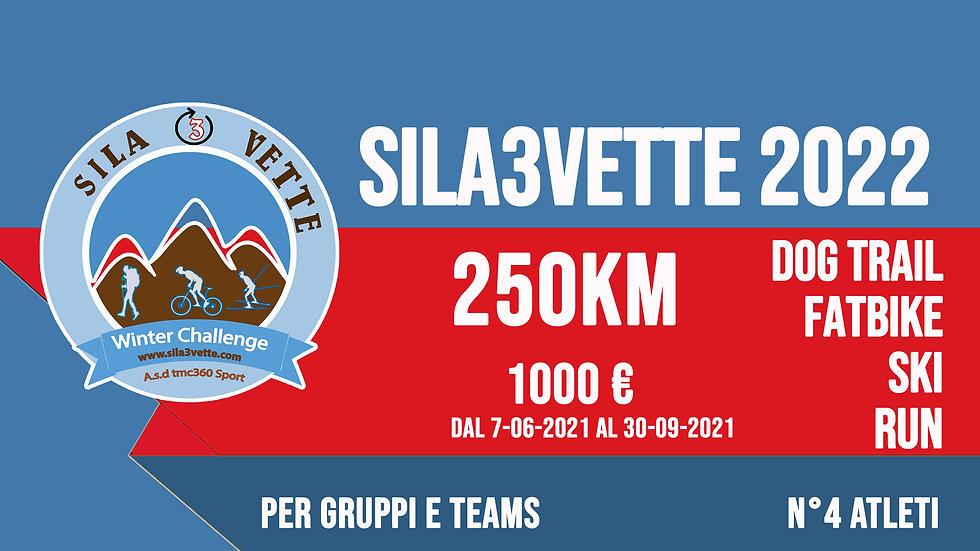 Sila3Vette2022 per gruppi - versione 250km