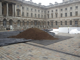 Lawn installation at Somerset House, London - Before
