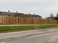 Fencing project across the back of 3 houses in Watton-at-Stone