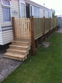 Caravan steps & platform