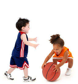 Children with Basketball