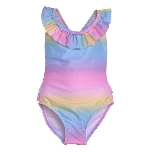 UPF 50+ Mindy Crossback Swimsuit   Rainbow Sherbet Ombre