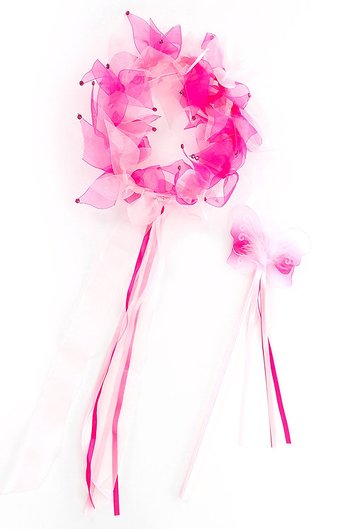 Fairy Halo and Wand Pink