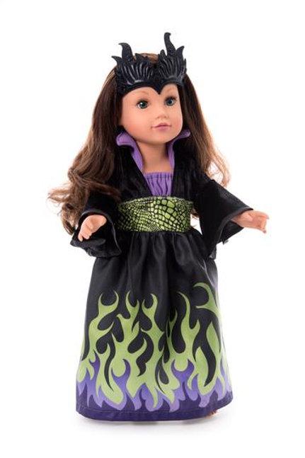 """18"""" Doll Dragon Queen Villain Dress"""