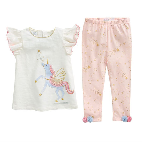 Unicorn Tunic & Capri Leggings Set