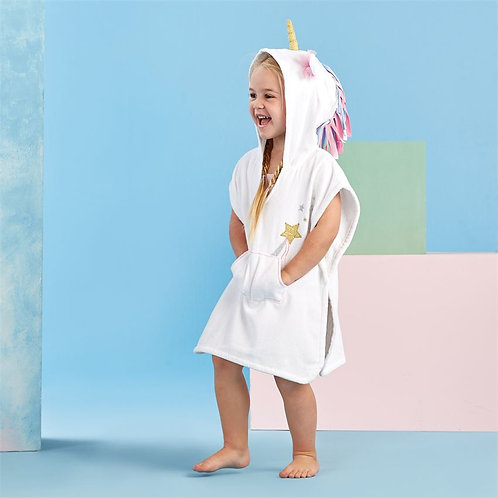 White Unicorn Hooded Cover-Up