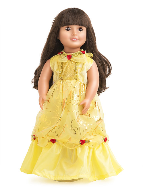 """18"""" Doll Yellow Beauty Gown"""