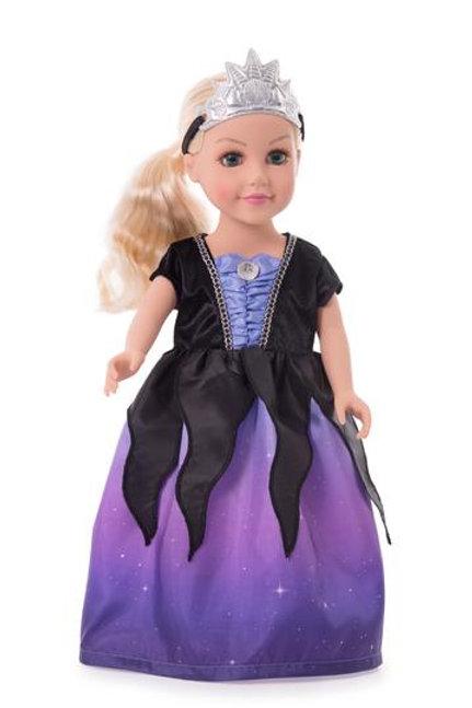 "18"" Doll Sea Witch Villain Dress"
