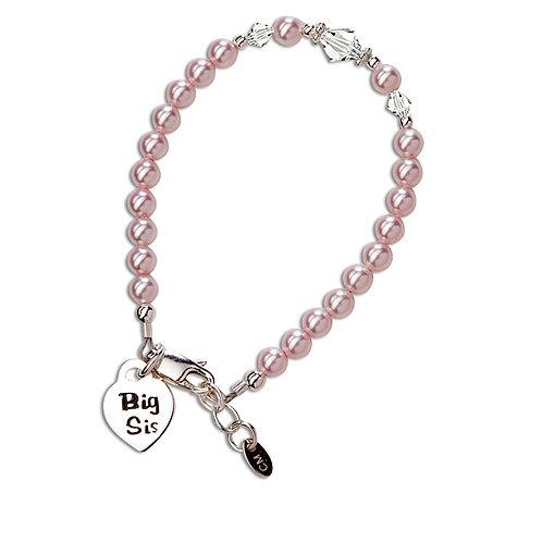Big Sis (Pink) ~ Sterling Silver Big Sis Bracelet