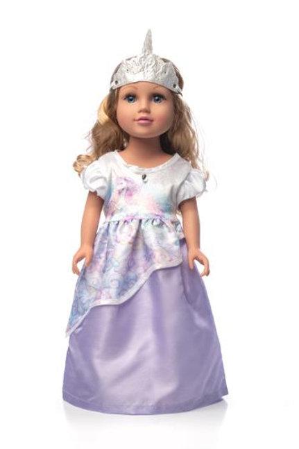 "18"" Doll Unicorn Princess Dress"