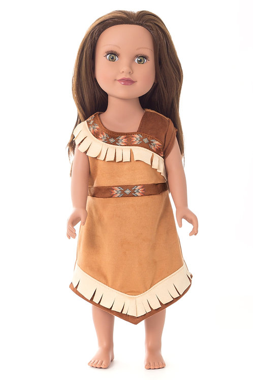 """18"""" Doll Native American Princess Outfit"""