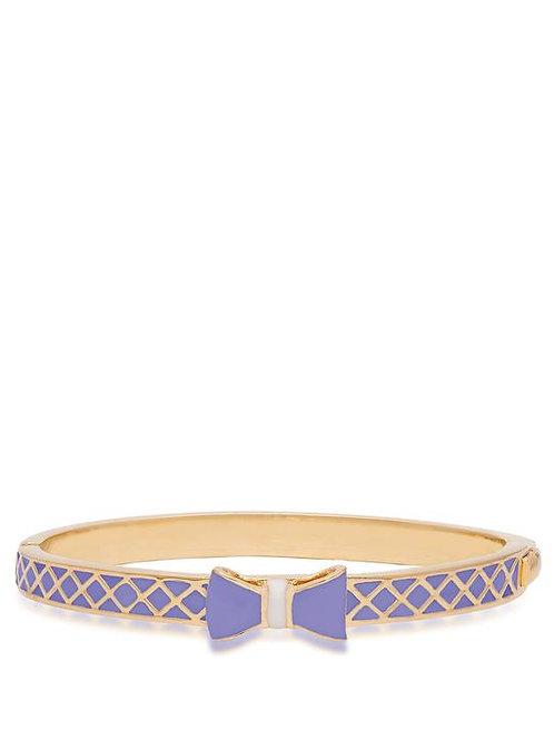 18K Gold Plated Children's Bow Bangle Bracelet Lavender