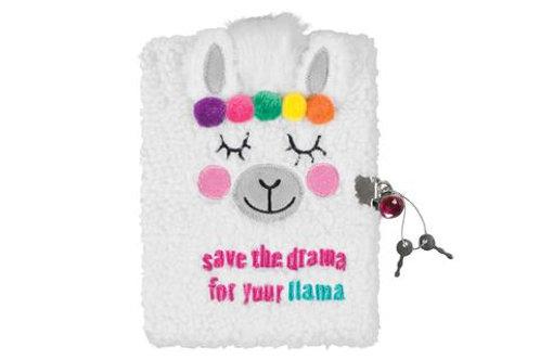 Llama Fuzzy Diary and Marabou Pen