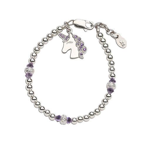 Unicorn (Lavender) ~ Sterling Silver Unicorn Bracelet