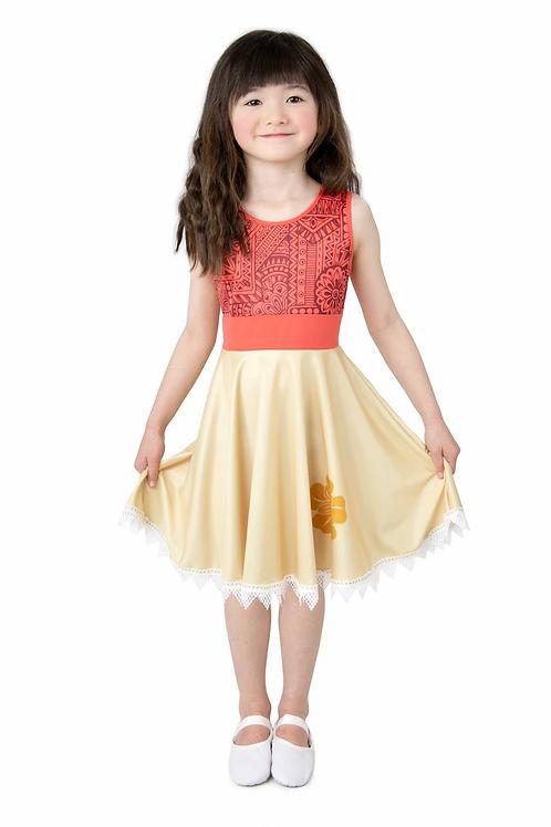 Polynesian Princess Twirl Dress