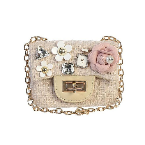 Mini Tweed Purse in Nude