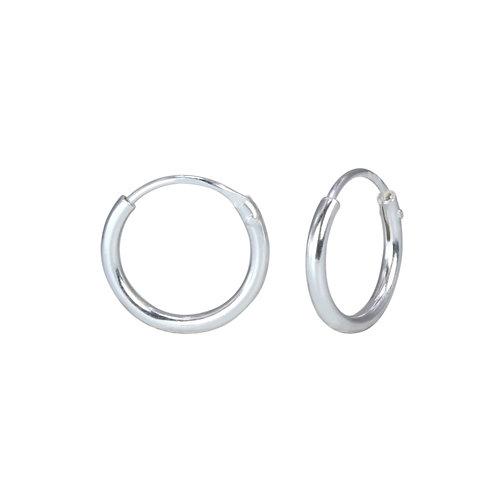Sterling Silver Endless Hoop Earrings