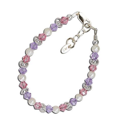 Natalee - Sterling Silver Multi-Color Bracelet