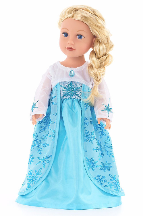 "18"" Doll Ice Princess Gown"